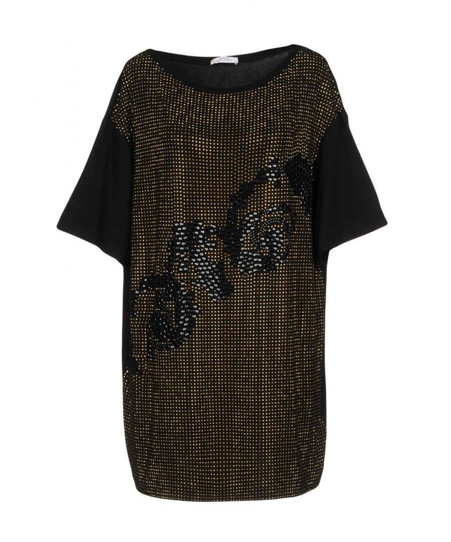 Image for Versace Collection Black Embellished T-Shirt