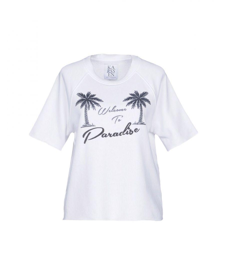 Image for Zoe Karssen White Paradise Print Cotton T-Shirt