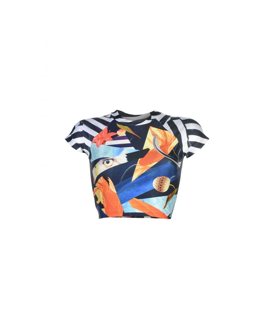 Image for We Are Handsome Black Pattern Cropped T-Shirt