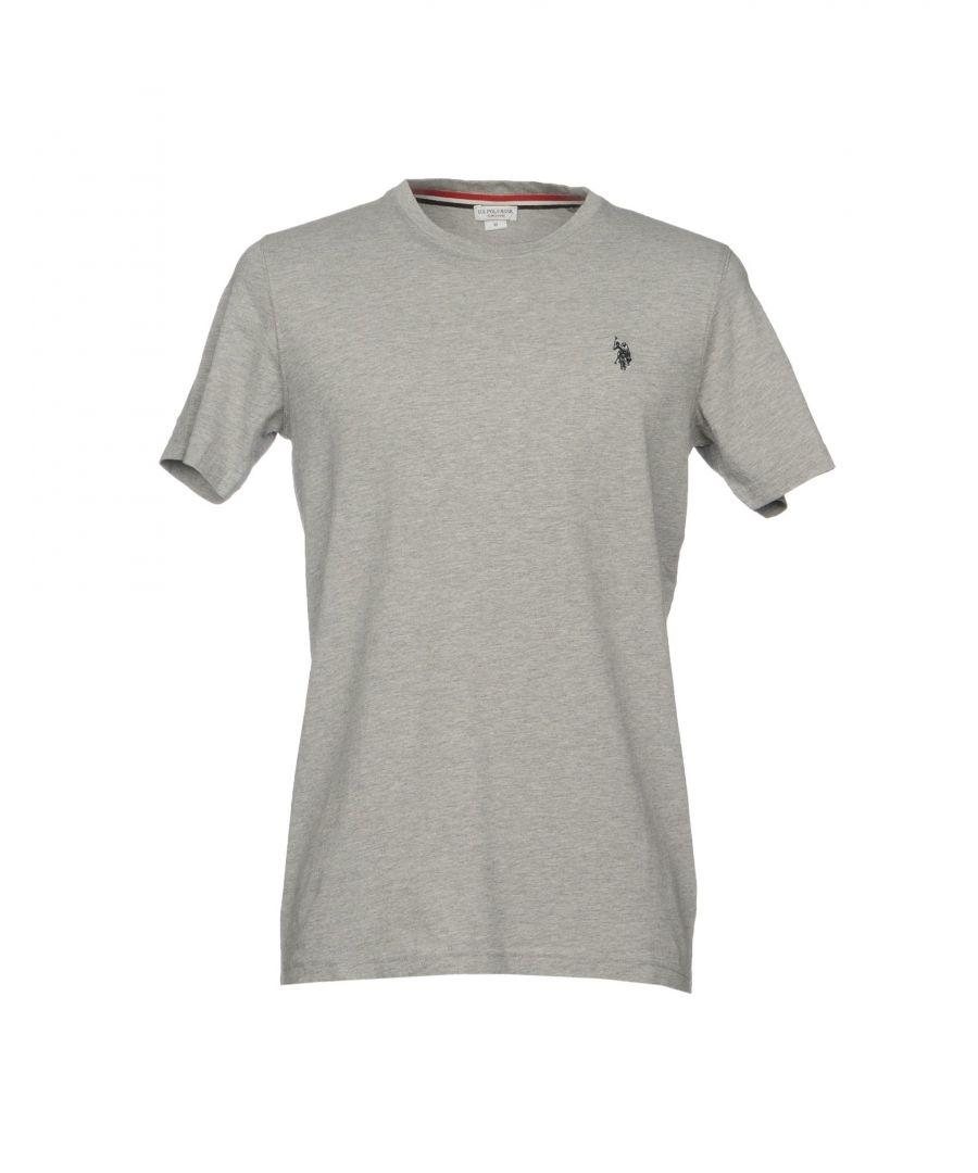 Image for U.S.Polo Assn. Light Grey Cotton T-Shirt