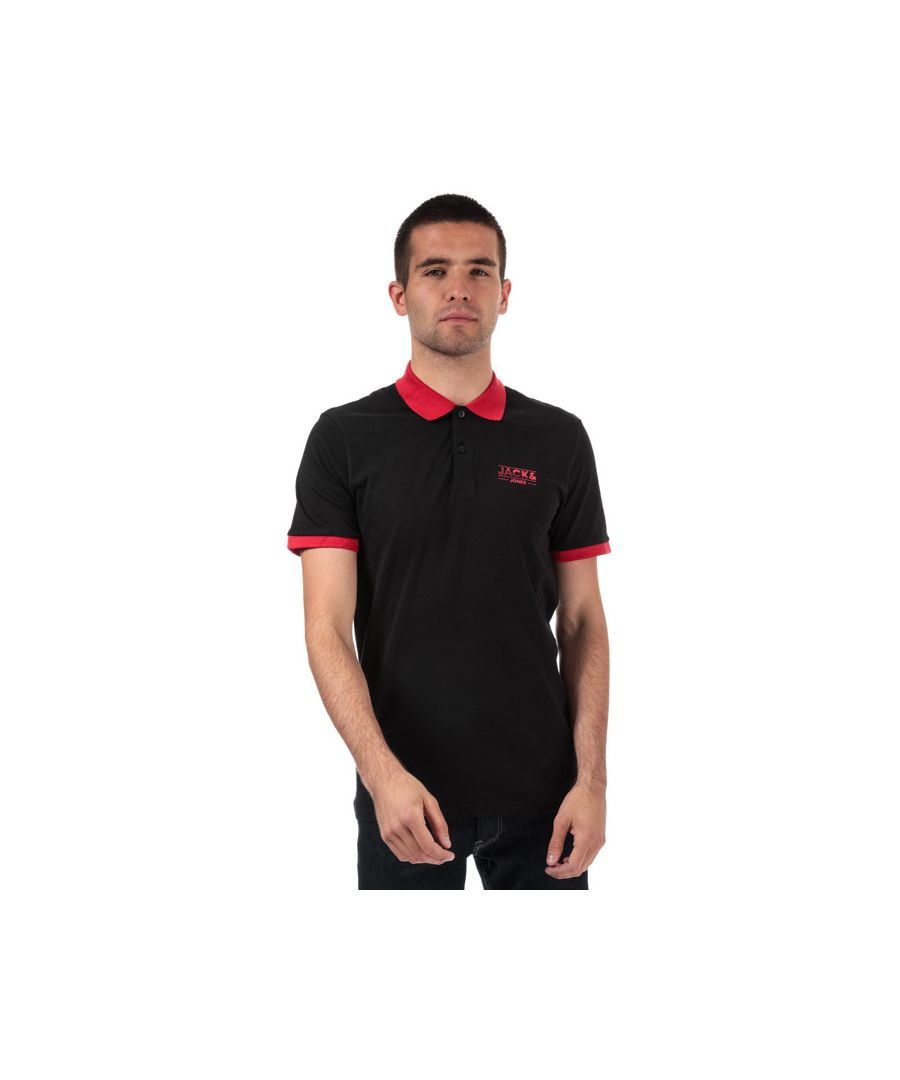 Image for Men's Jack Jones Tony Polo Shirt in Black