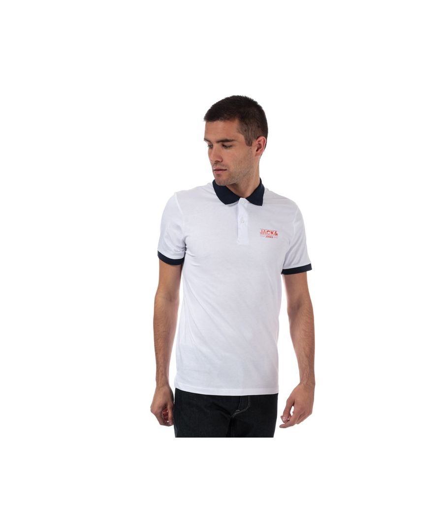 Image for Men's Jack Jones Tony Polo Shirt in White