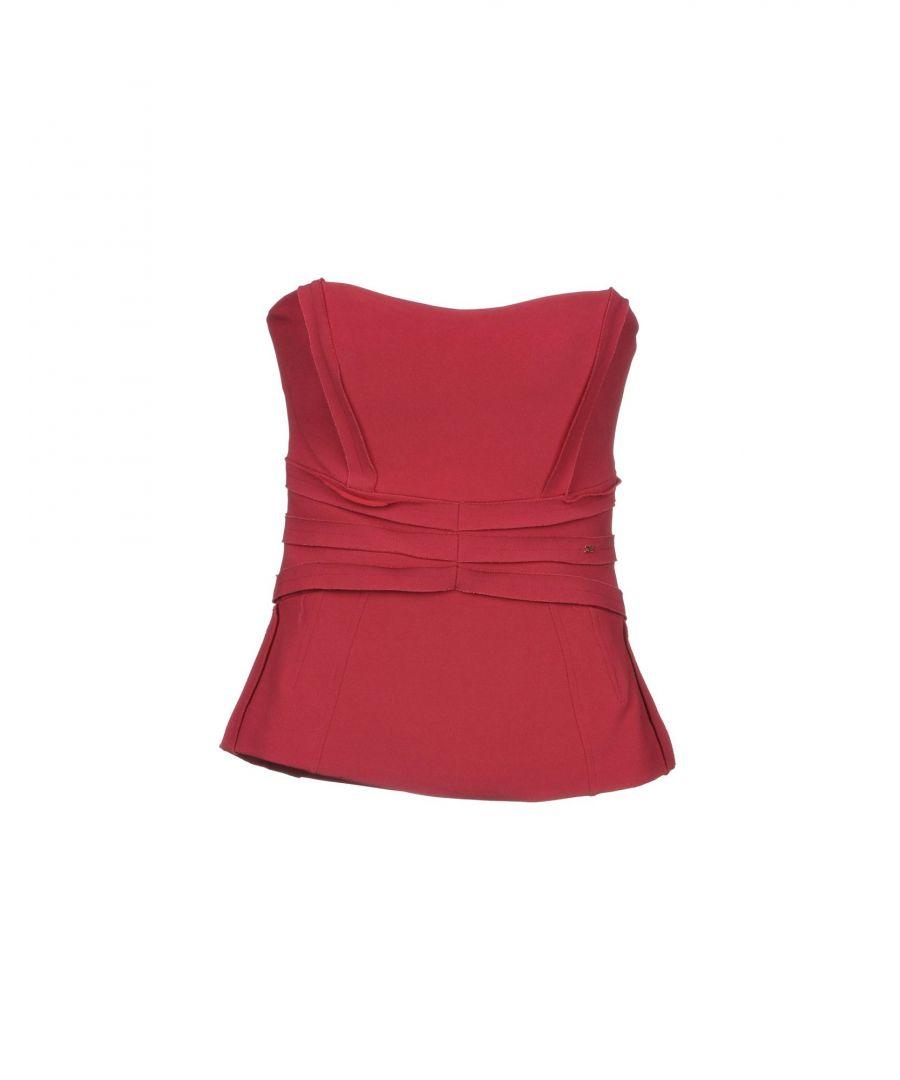 Image for Elisabetta Franchi Garnet Crepe Strapless Top