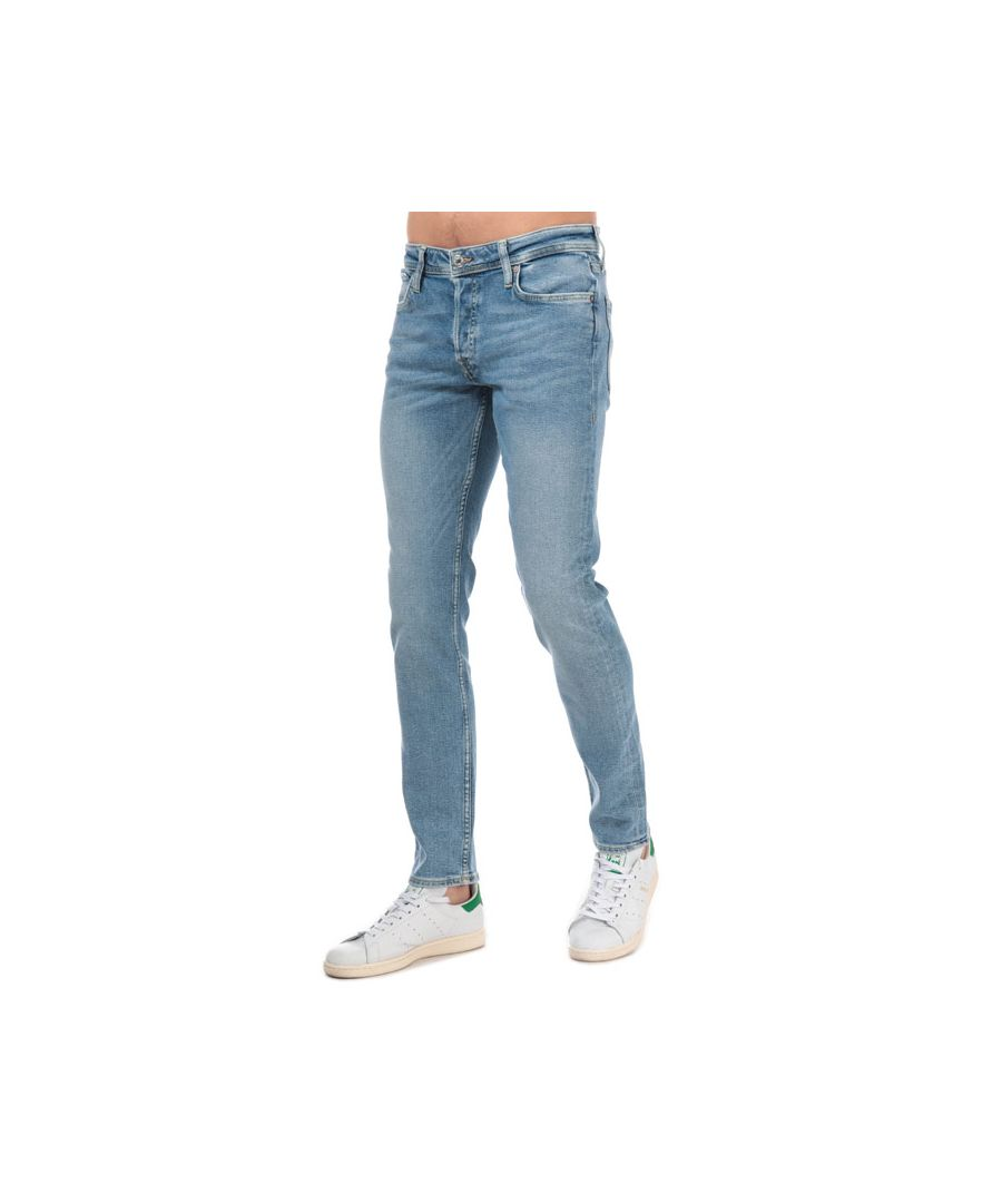 Image for Men's Jack Jones Glenn Original Slim Fit Jeans in Blue