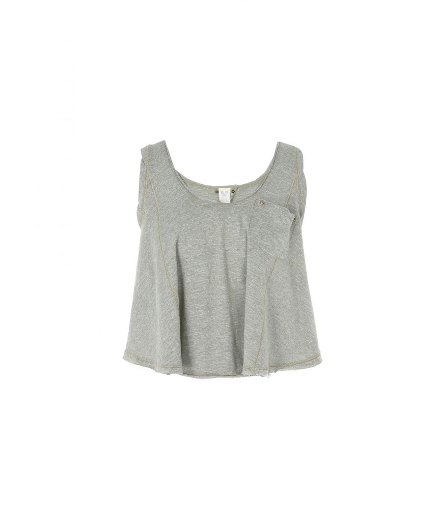 Image for Free People Grey Jersey Vest Top