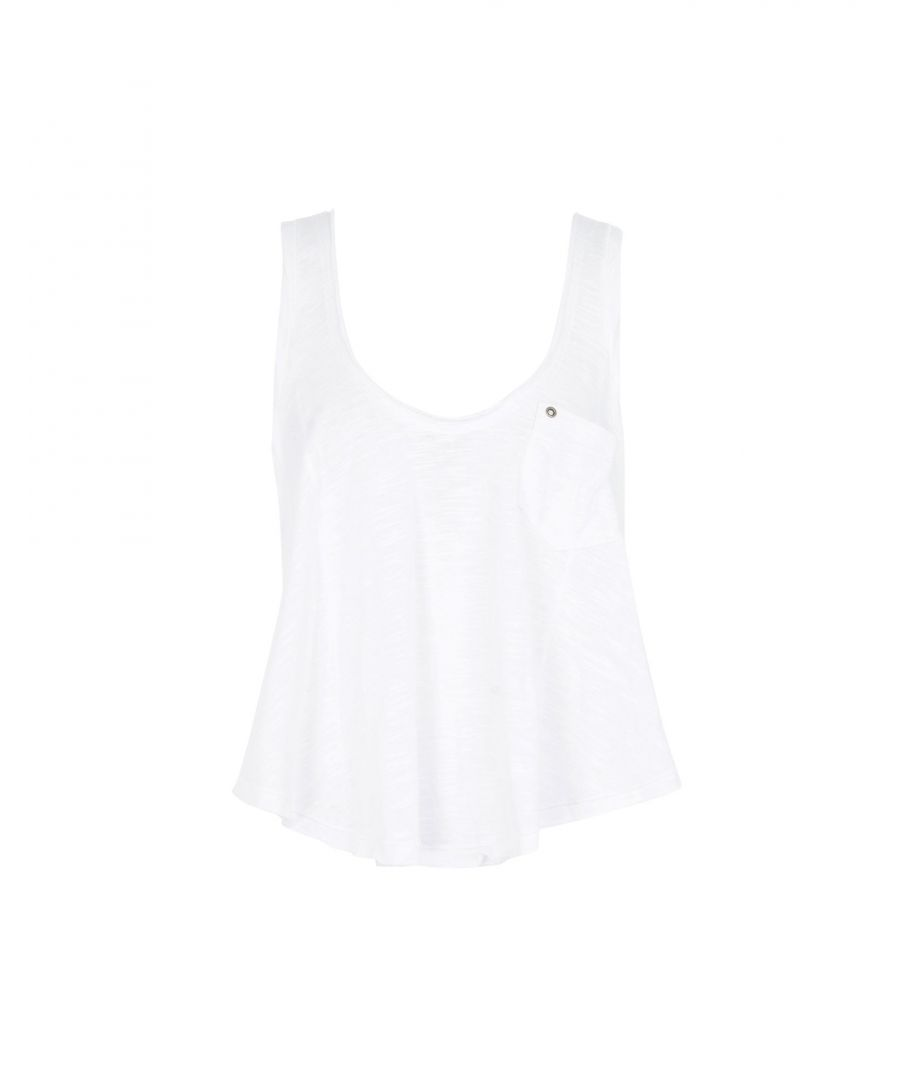 Image for Free People White Jersey Vest Top