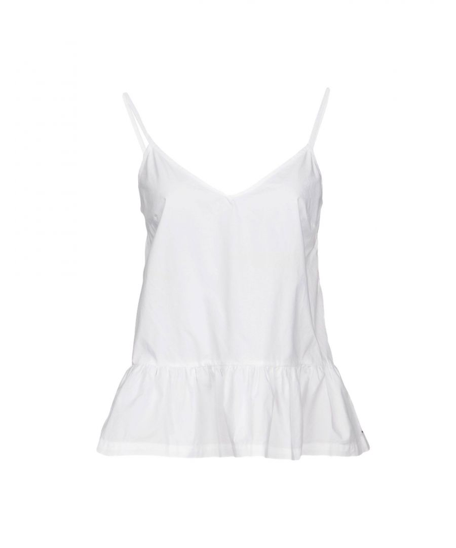 Image for Tommy Jeans White Cotton Camisole