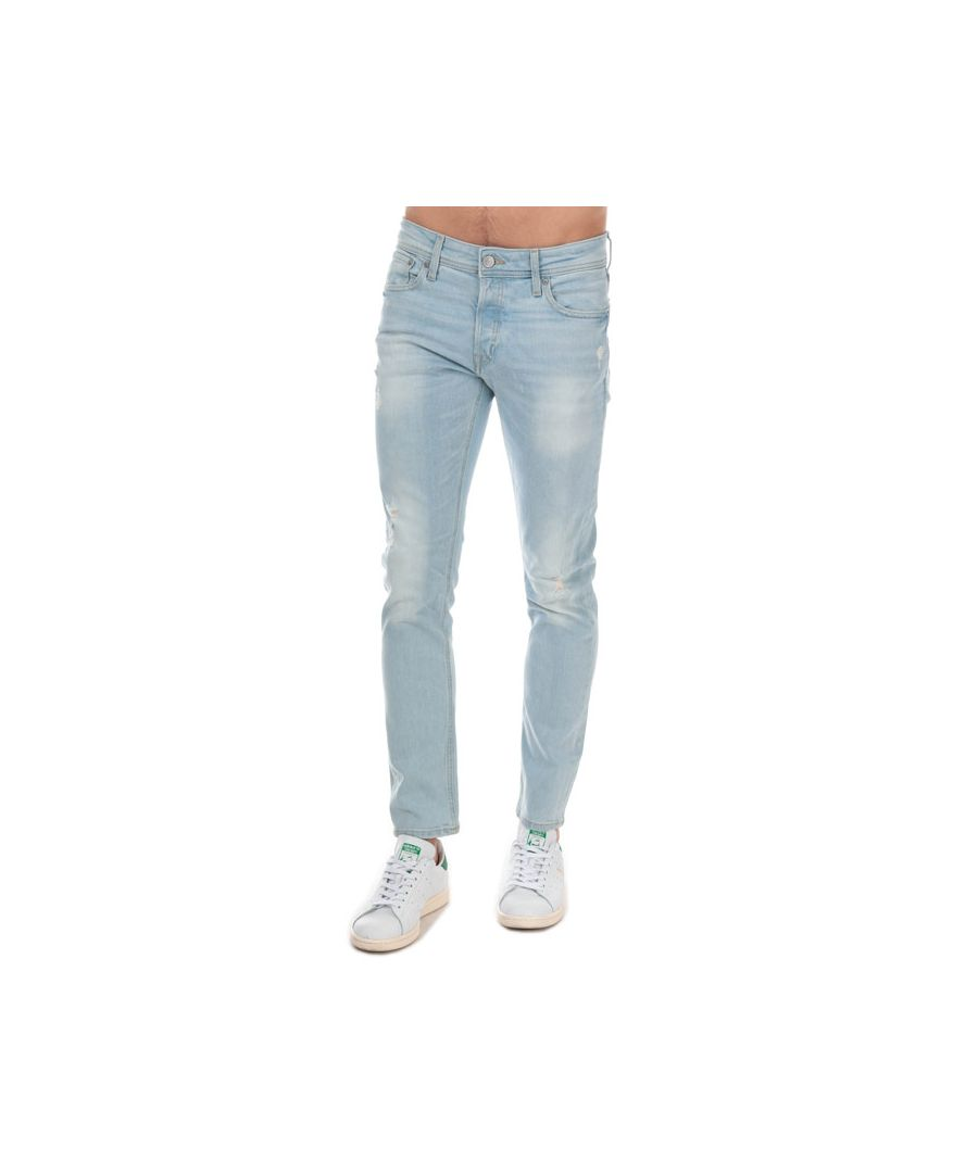 Image for Men's Jack Jones Glenn Original Slim Fit Jeans in Light Blue