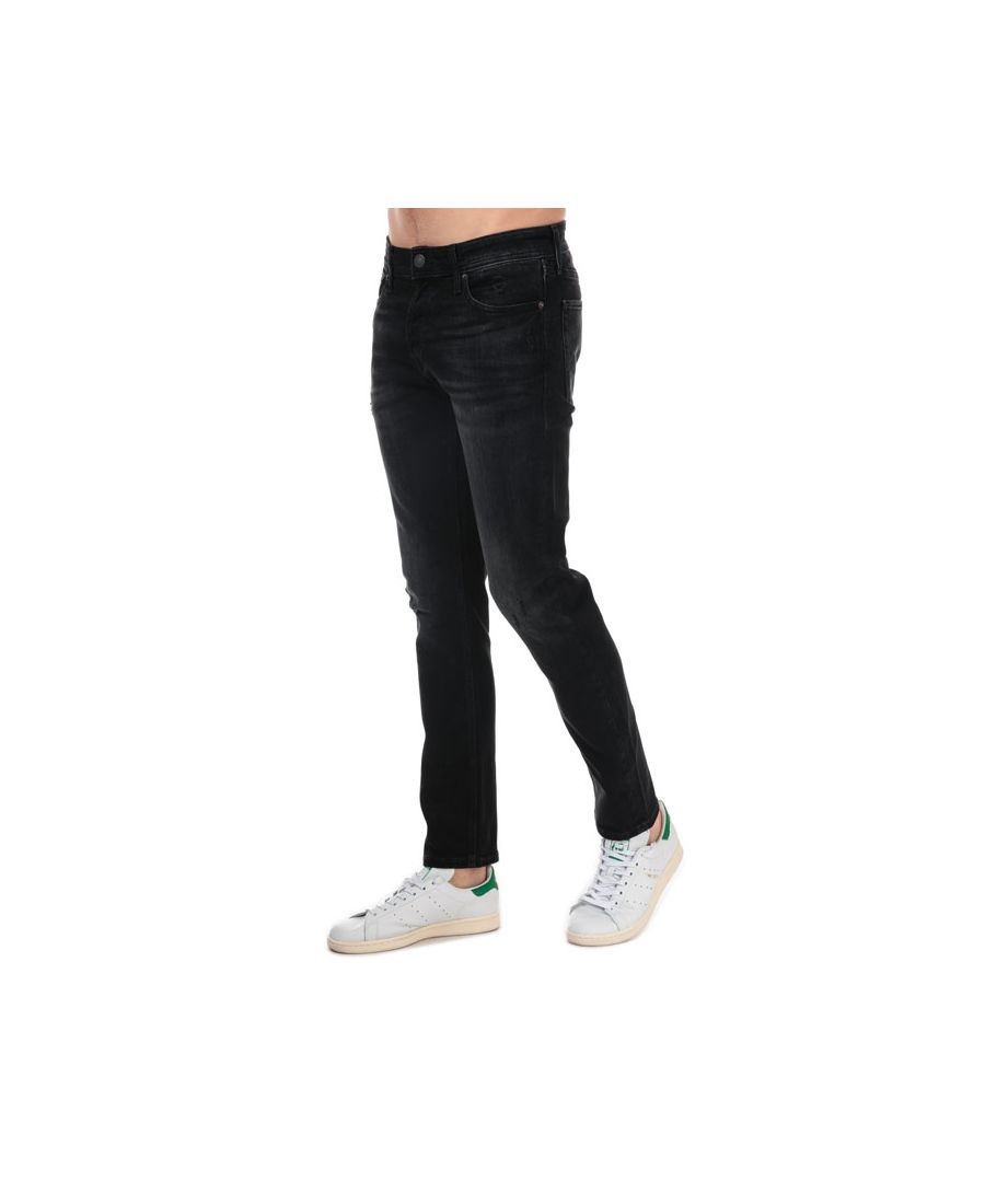 Image for Men's Jack Jones Glenn Original Slim Fit Jeans in Black