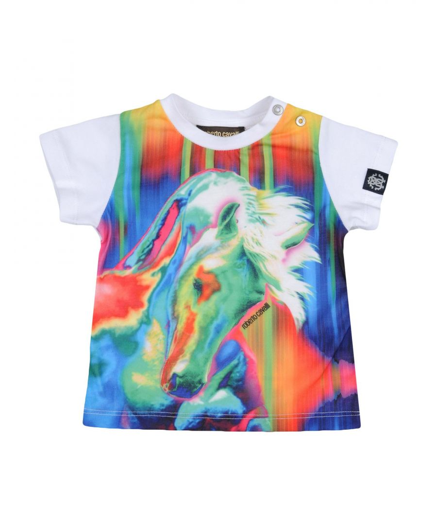 Image for Roberto Cavalli Junior White Cotton T-shirt