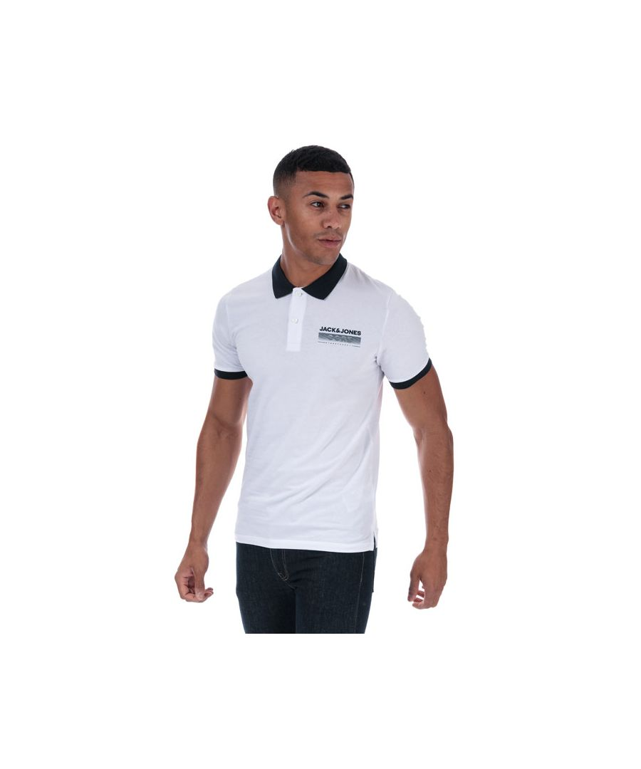 Image for Men's Jack Jones Town Polo Shirt in White