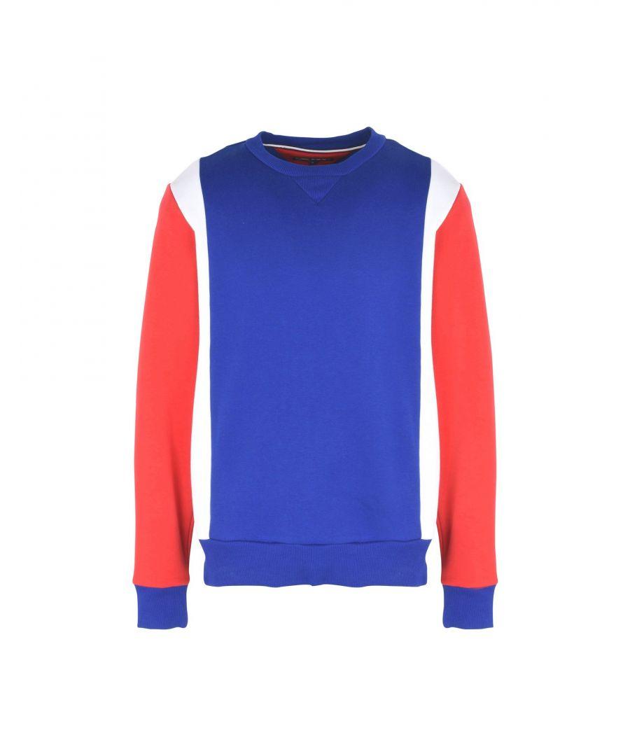 Image for Tommy Hilfiger Bright Blue Cotton Logo Sweatshirt