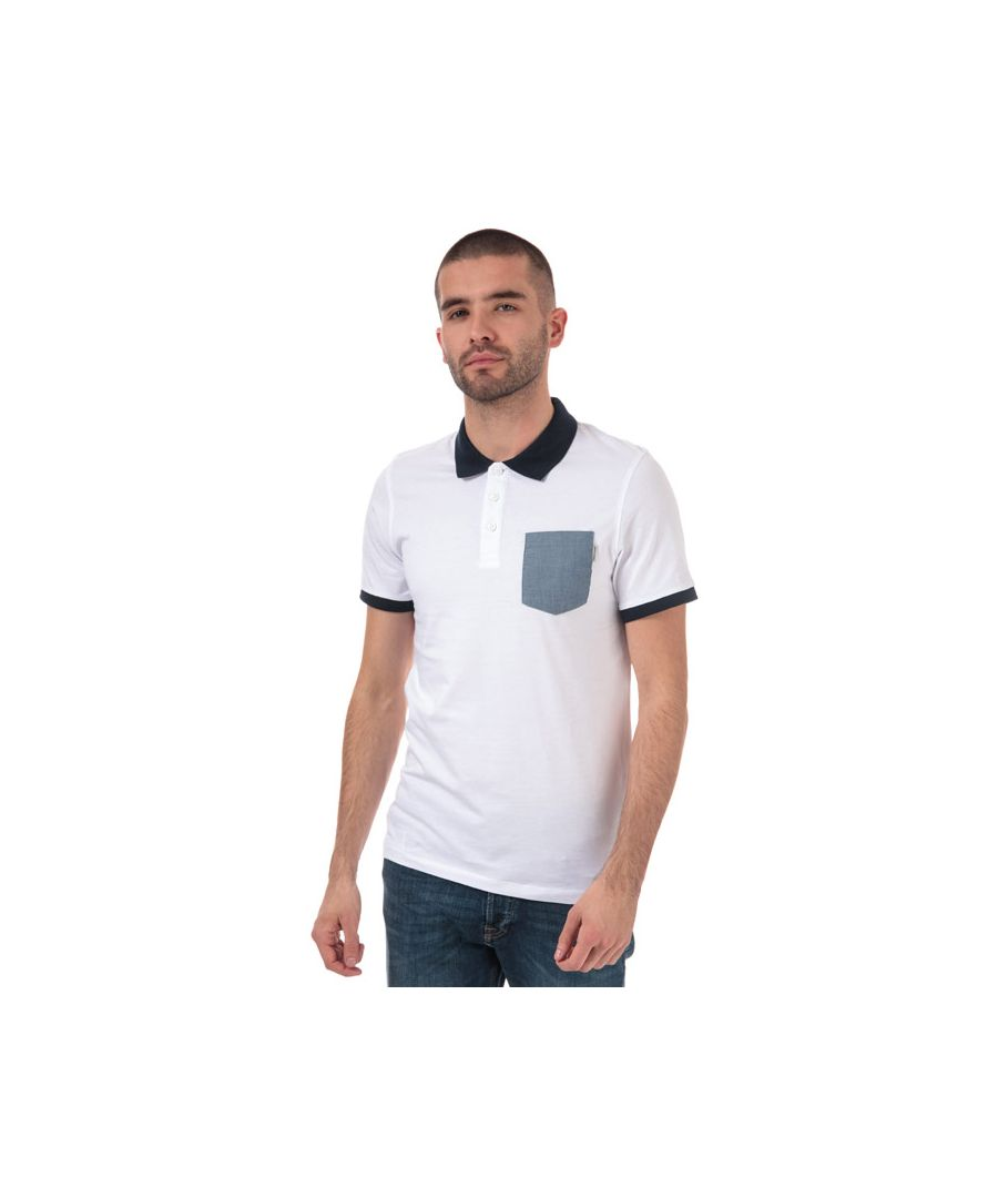 Image for Men's Jack Jones Texan Slim Fit Polo Shirt in White