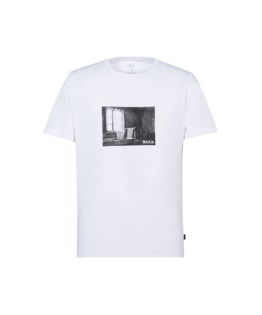 Image for Makia White Print Cotton T-Shirt