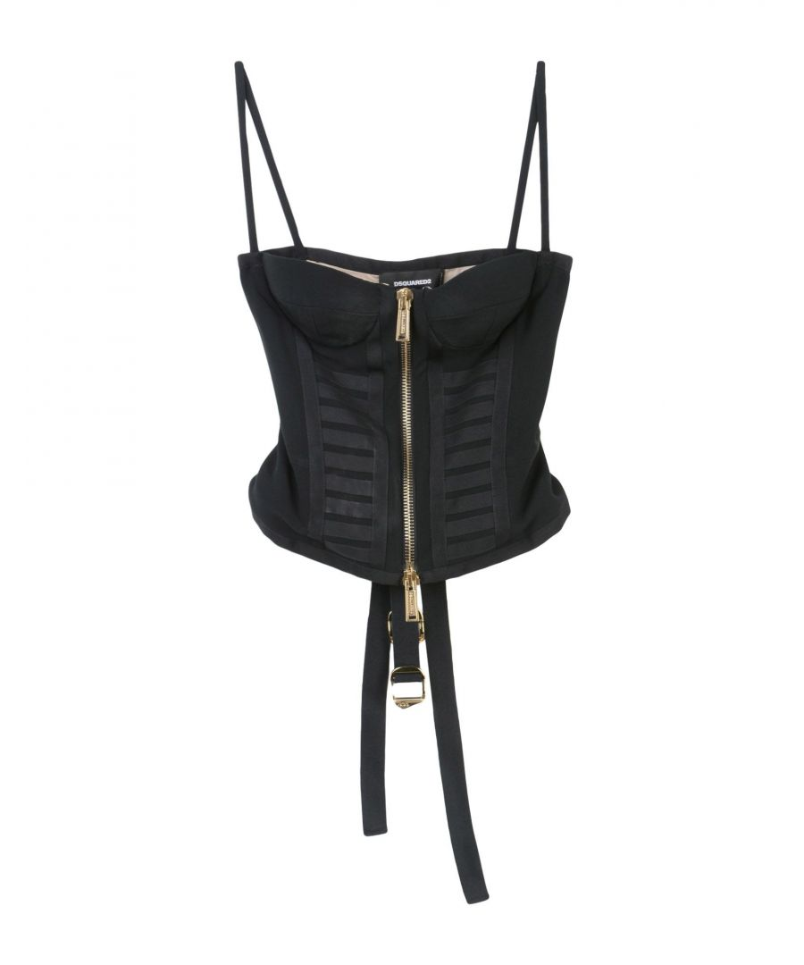 Image for Dsquared2 Black Crepe Camisole