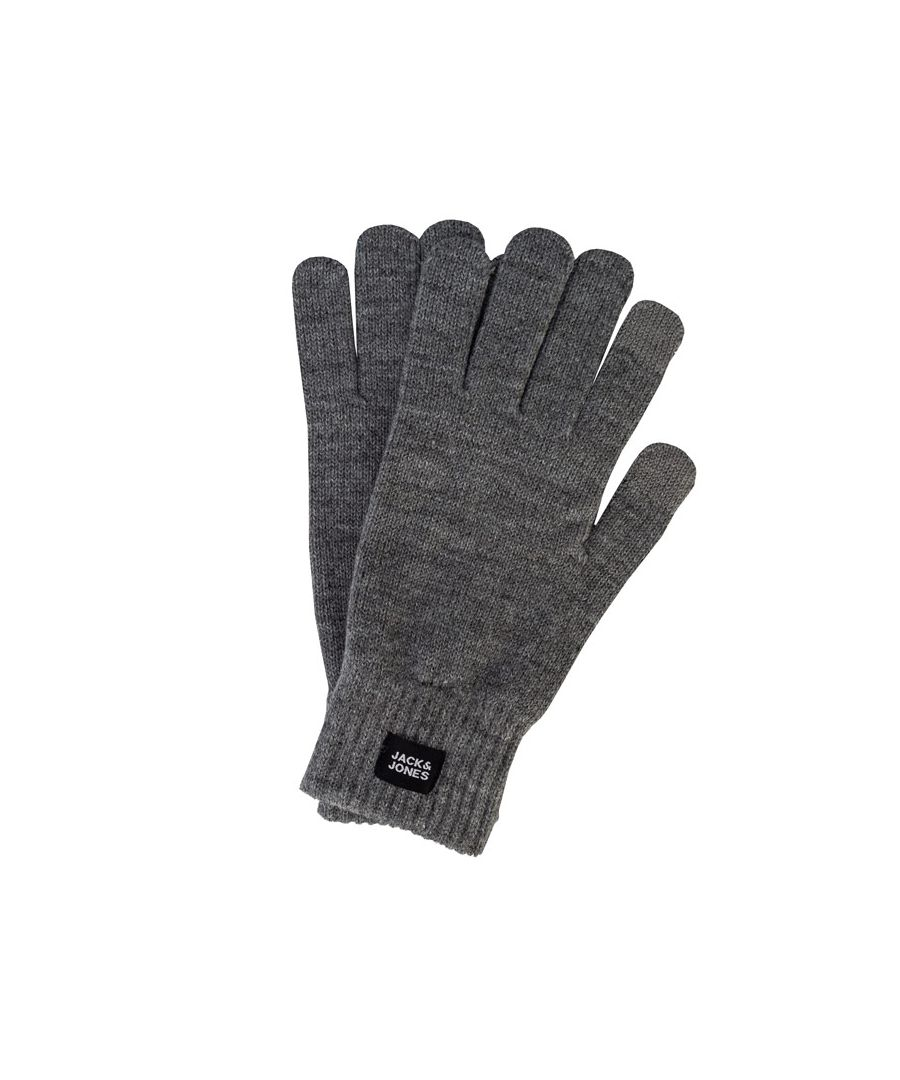 Image for Accessories Jack Jones Oliver Knitted Gloves in Grey