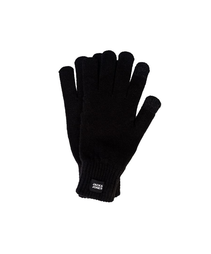 Image for Accessories Jack Jones Oliver Knitted Gloves in Black