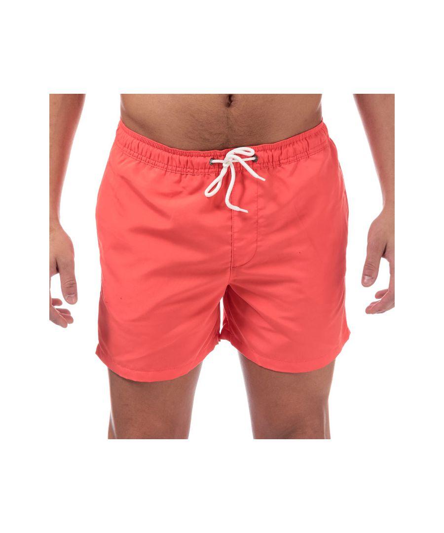 Image for Men's Jack Jones Mailbu Solid Swim Shorts in Coral