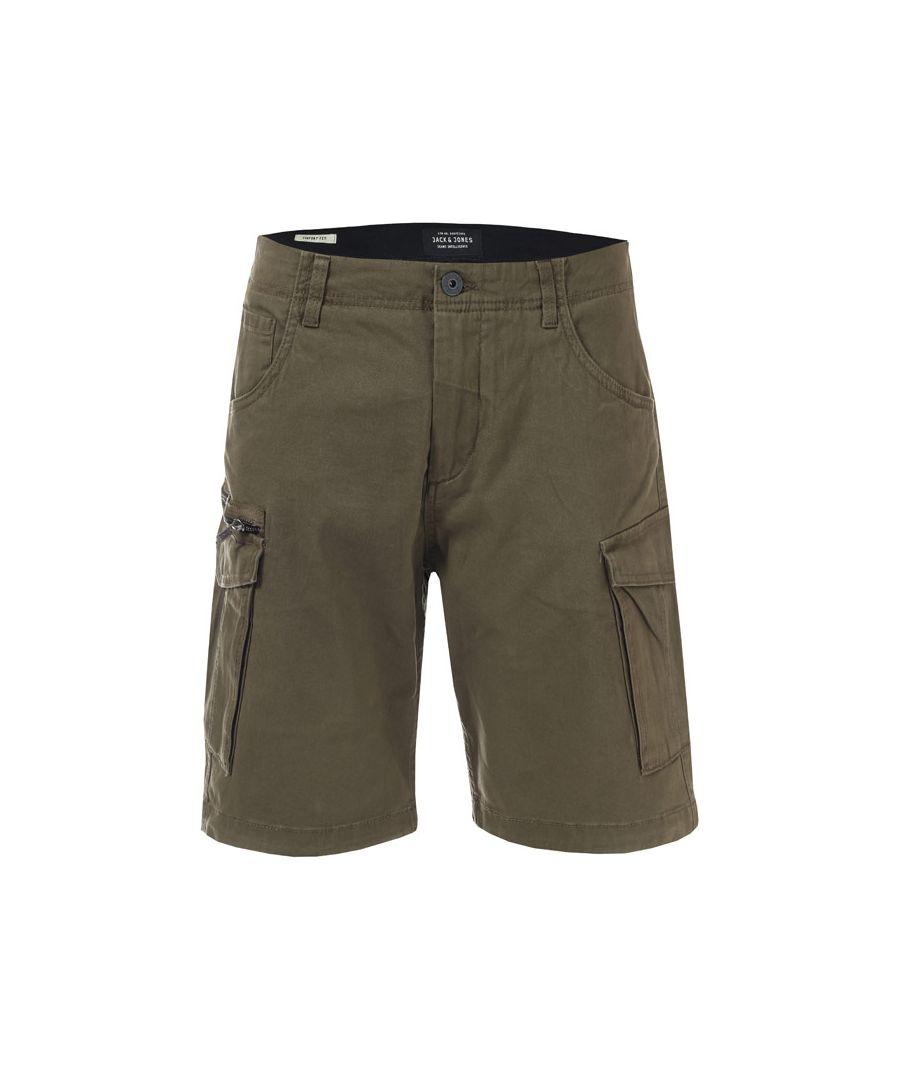 Image for Men's Jack Jones Basic Cargo Shorts in olive