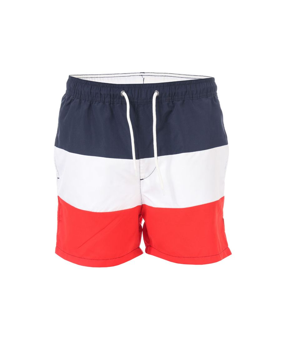 Image for Men's Jack Jones Malibu Colour Block Swim Shorts in Navy