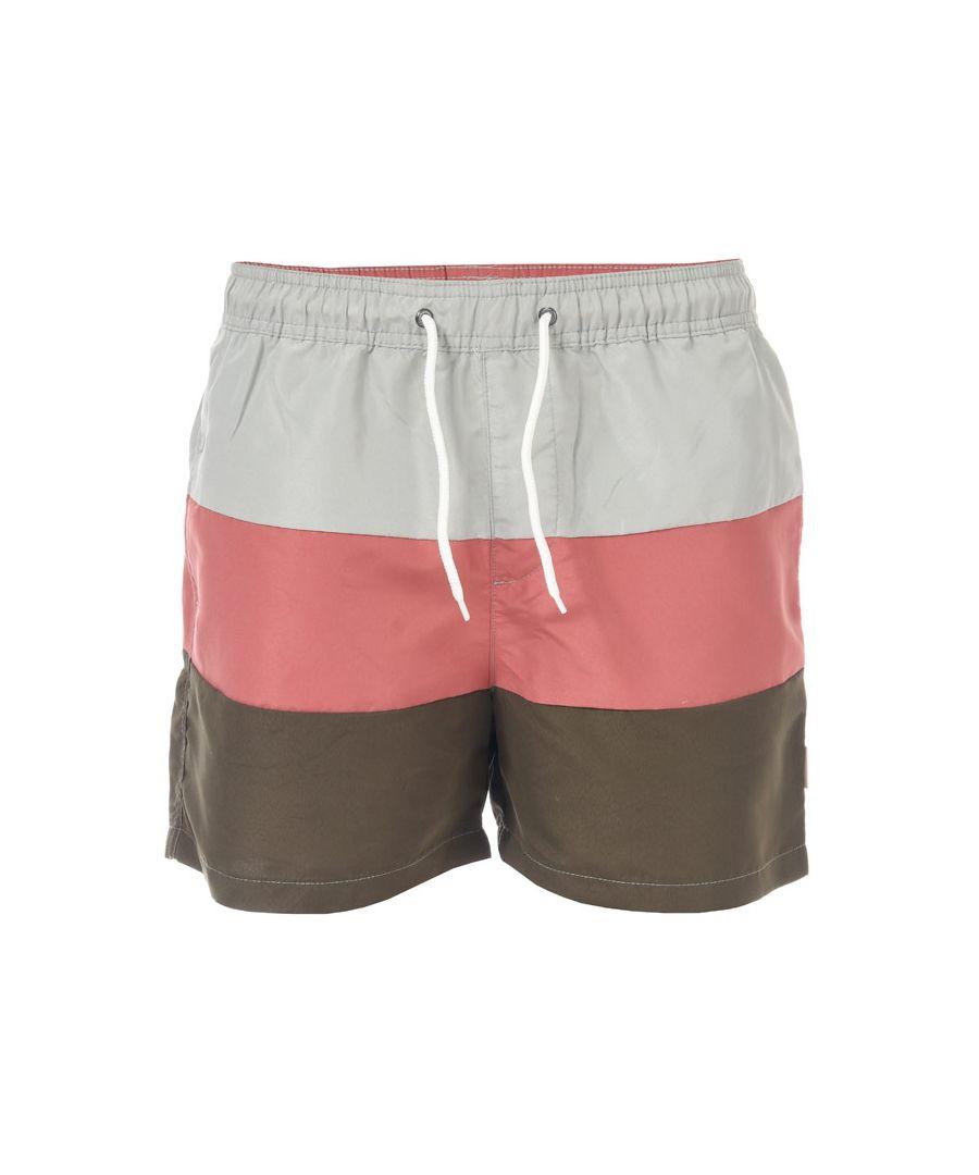 Image for Men's Jack Jones Malibu Colour Block Swim Shorts in Green White