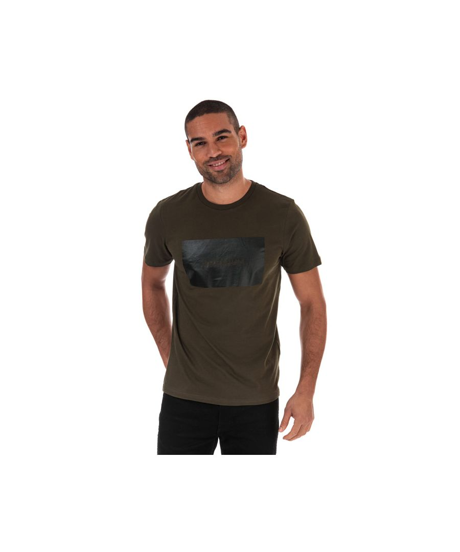 Image for Men's Jack Jones Tonal Logo T-Shirt in Green