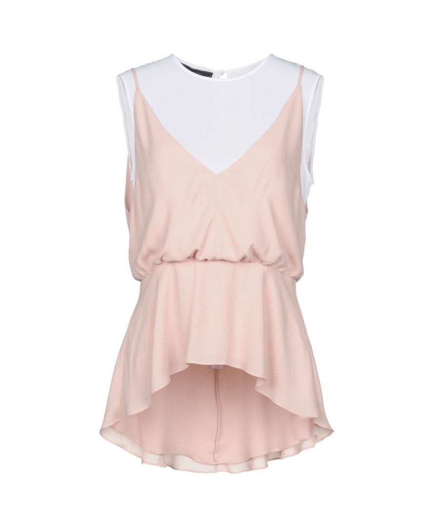 Image for Bcbgmaxazria Pale Pink Sleeveless Blouse