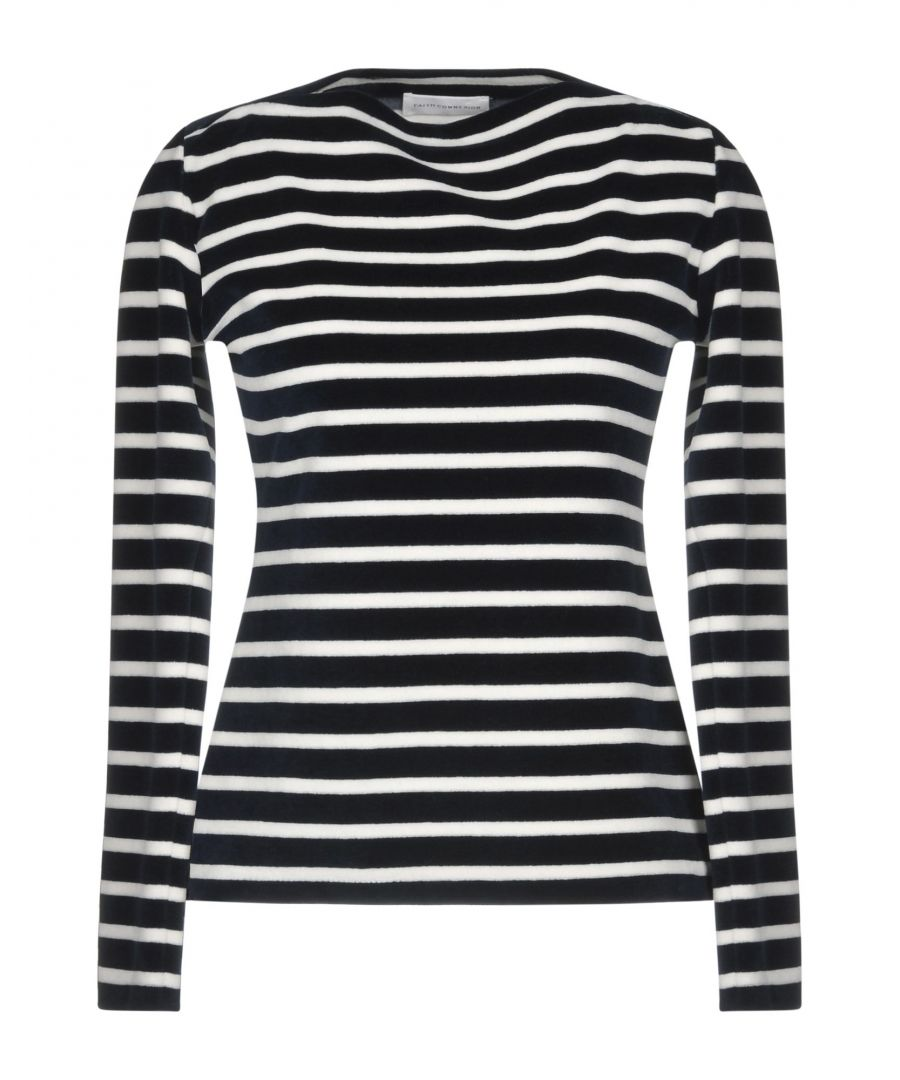 Image for Faith Connexion Dark Blue Striped Cotton Jumper