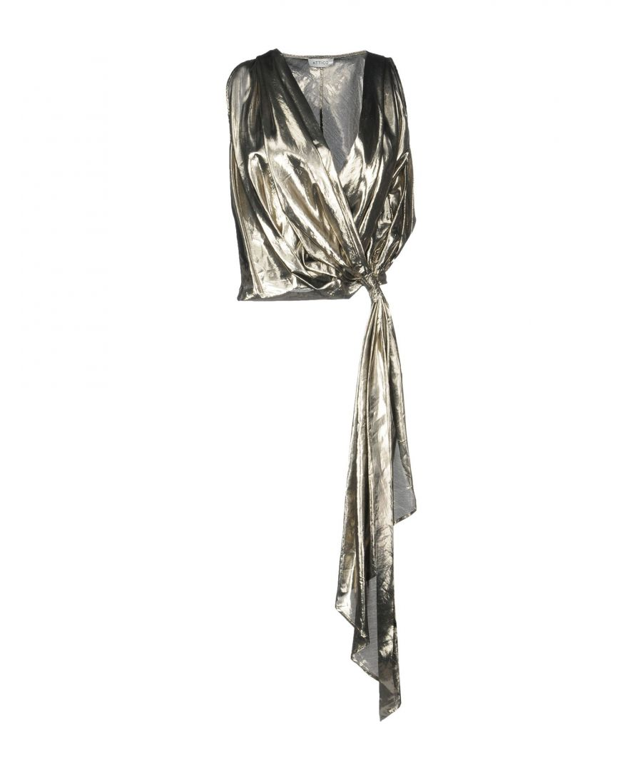 Image for The Attico Platinum Silk Blouse