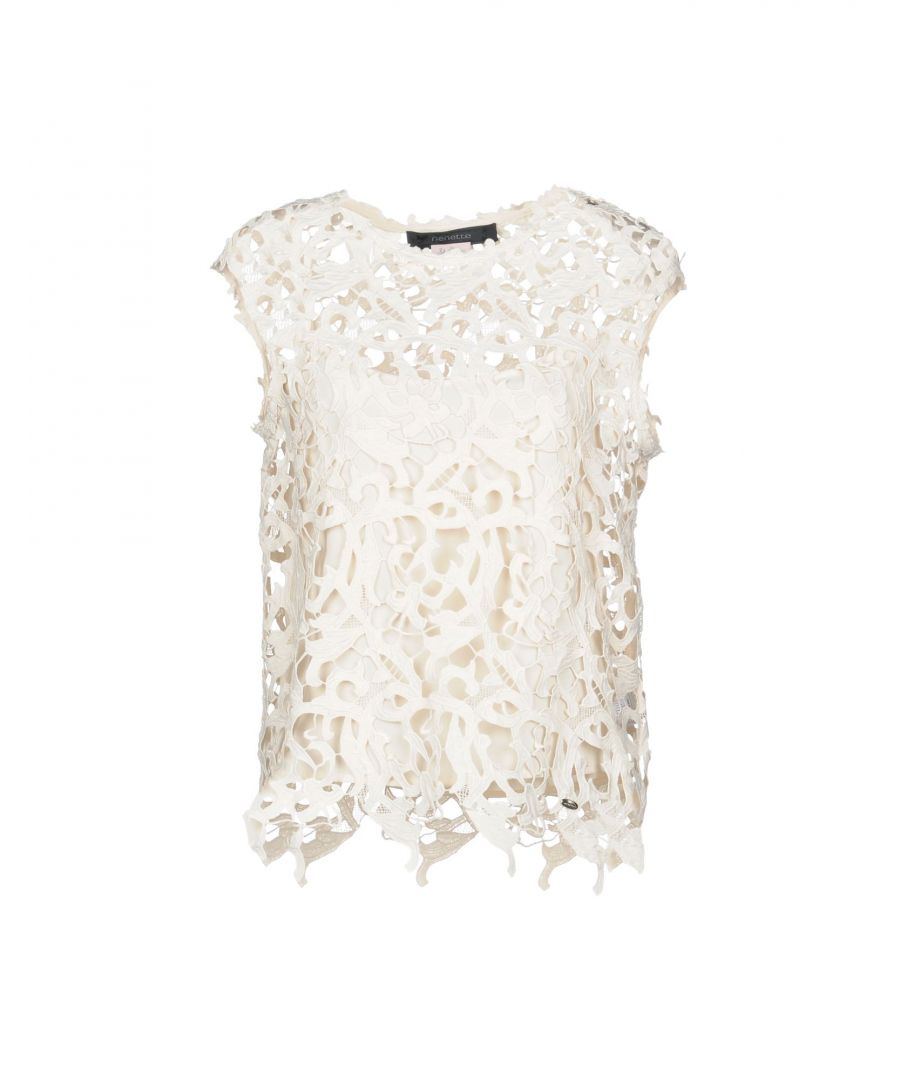 Image for Nenette Ivory Lace Sleeveless Blouse