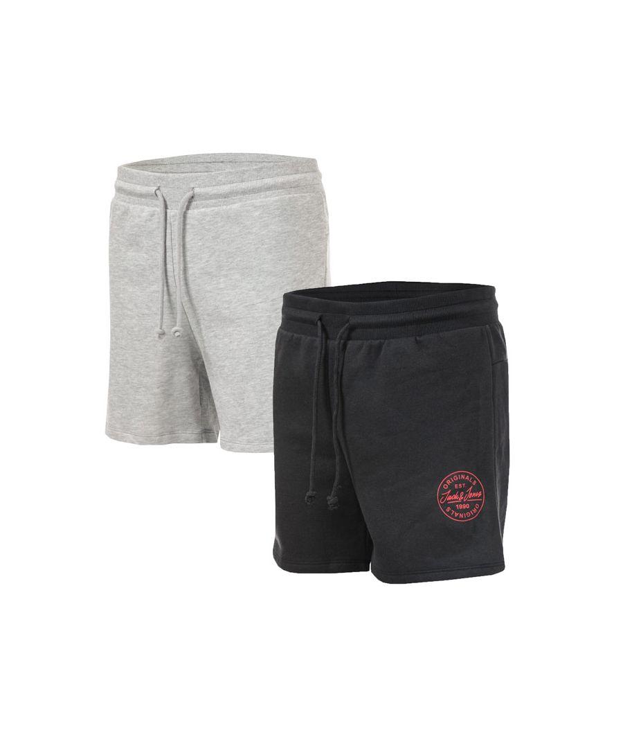 Image for Men's Jack Jones More 2 Pack Sweat Short in Grey black
