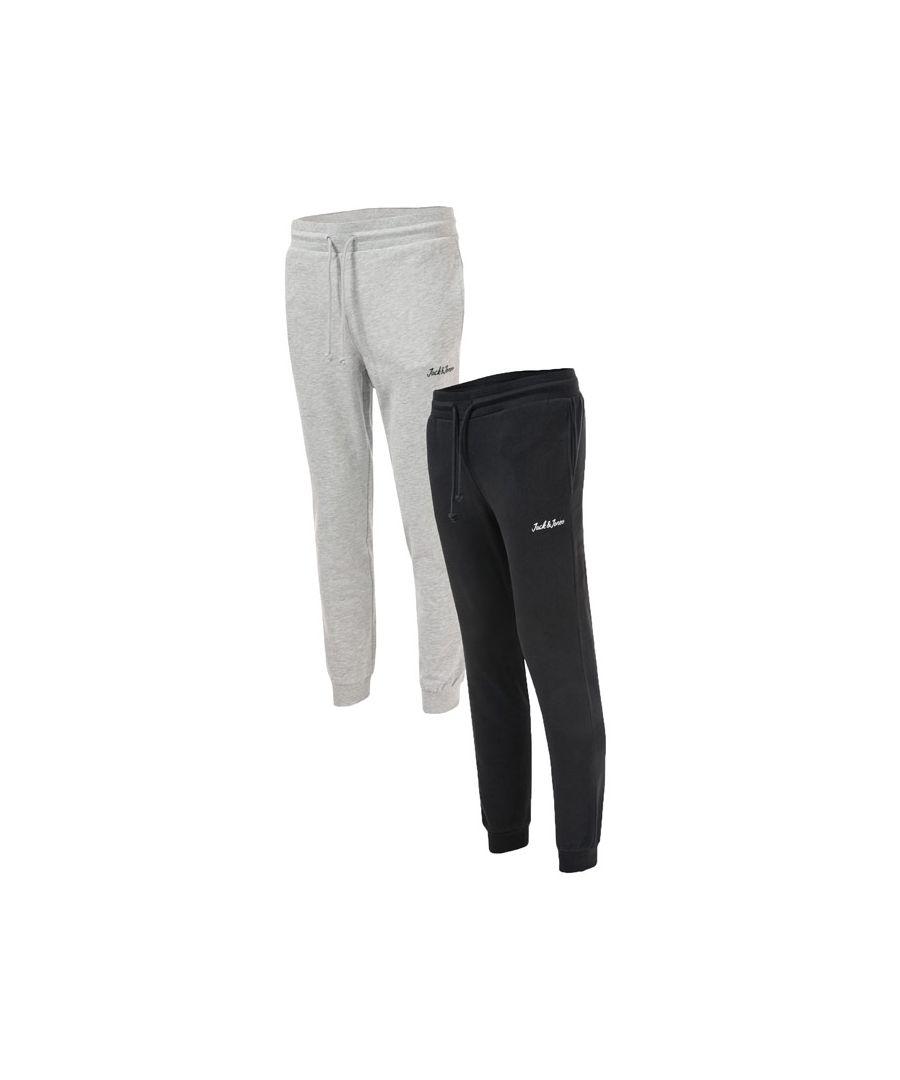 Image for Men's Jack Jones Winks 2 Pack Jog Pants in Grey black