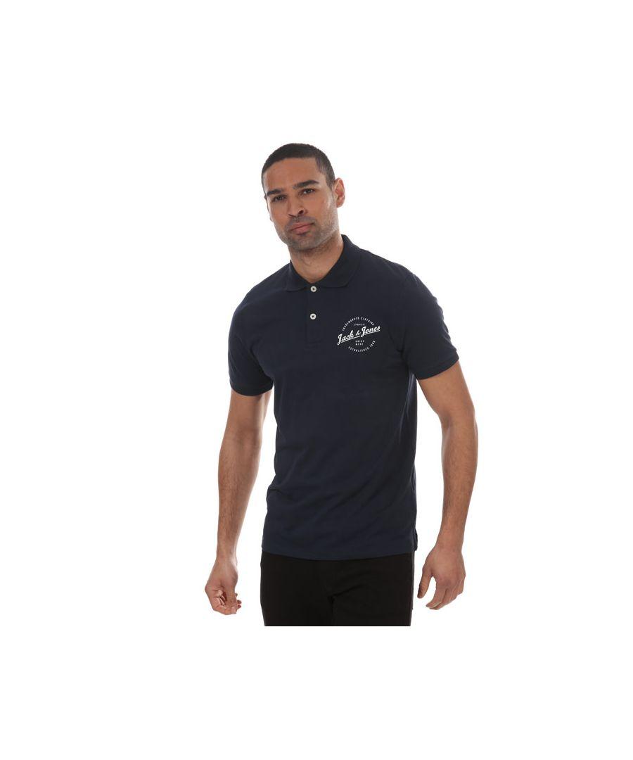 Image for Men's Jack Jones Famo Polo Shirt in Navy
