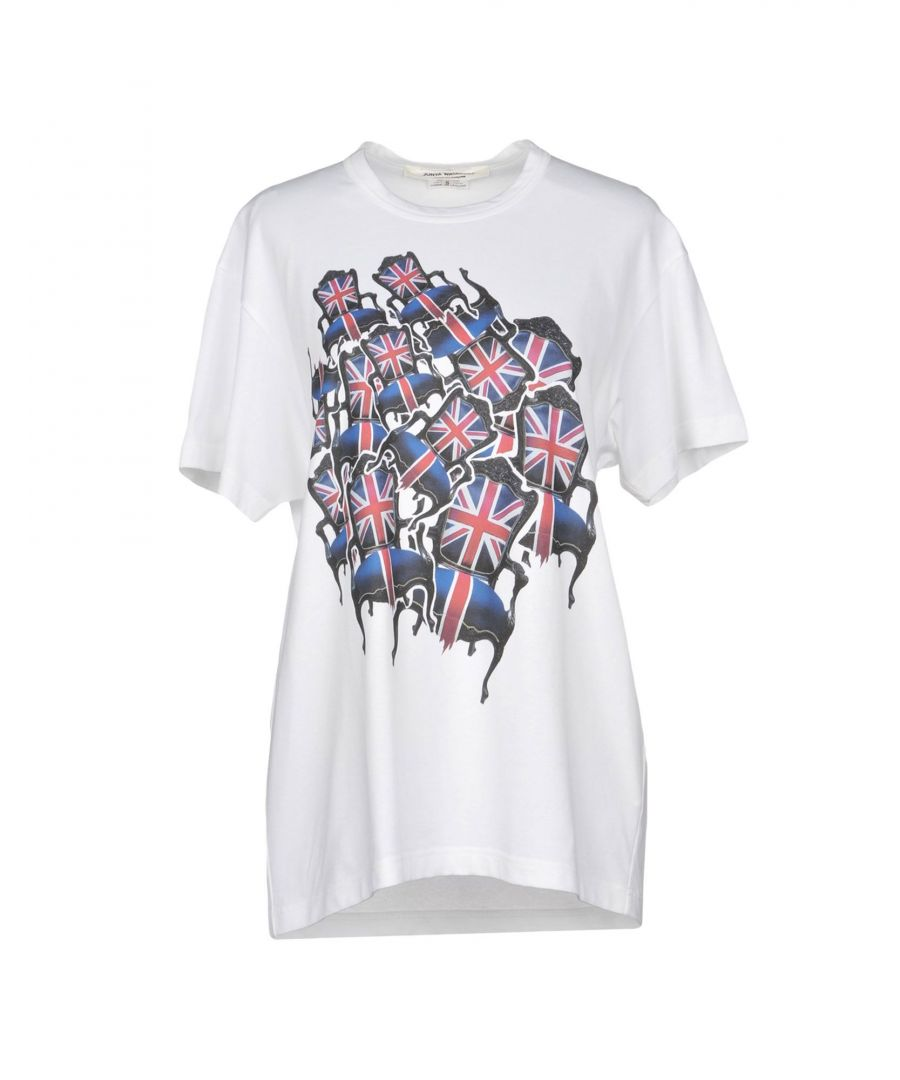 Image for Junya Watanabe Comme Des Garçons White Cotton Print T-Shirt