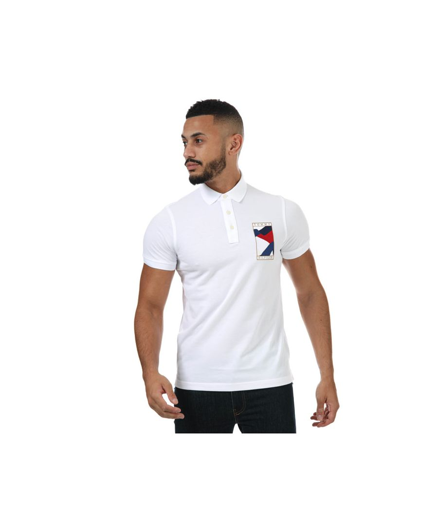 Image for Men's Tommy Hilfiger Icon Flag Wavy Polo Shirt in White