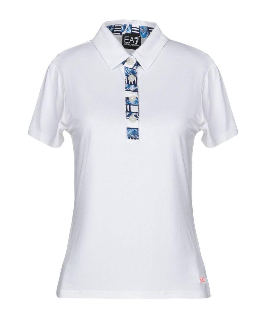 Image for Ea7 White Short Sleeve Polo Shirt