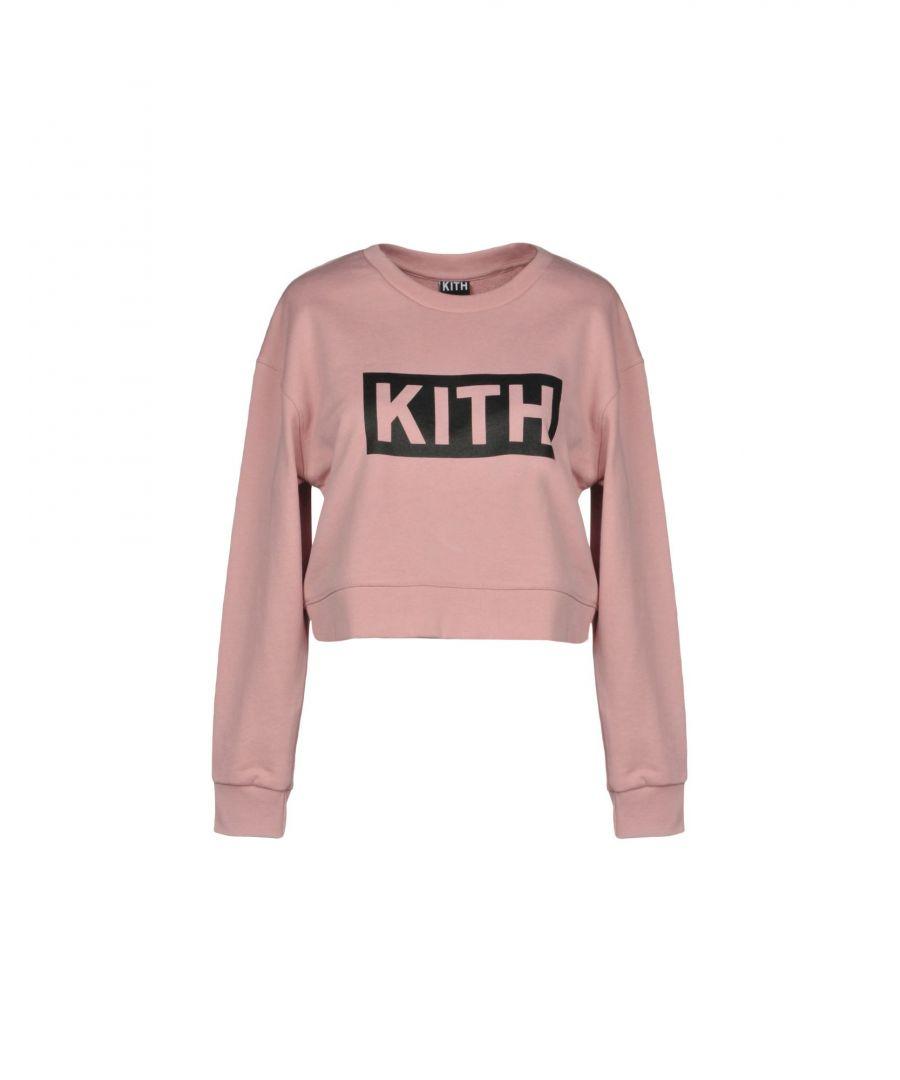 Image for Kith Pink Cotton Logo Sweatshirt