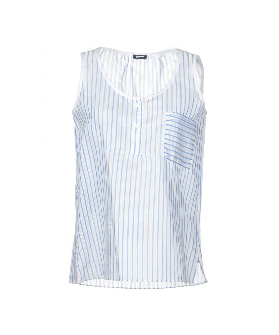 Image for Jil Sander Navy Sky blue Cotton Tops