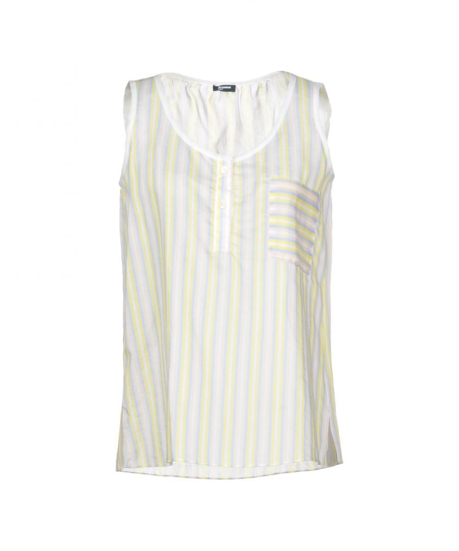 Image for Jil Sander Navy Yellow Cotton Tops