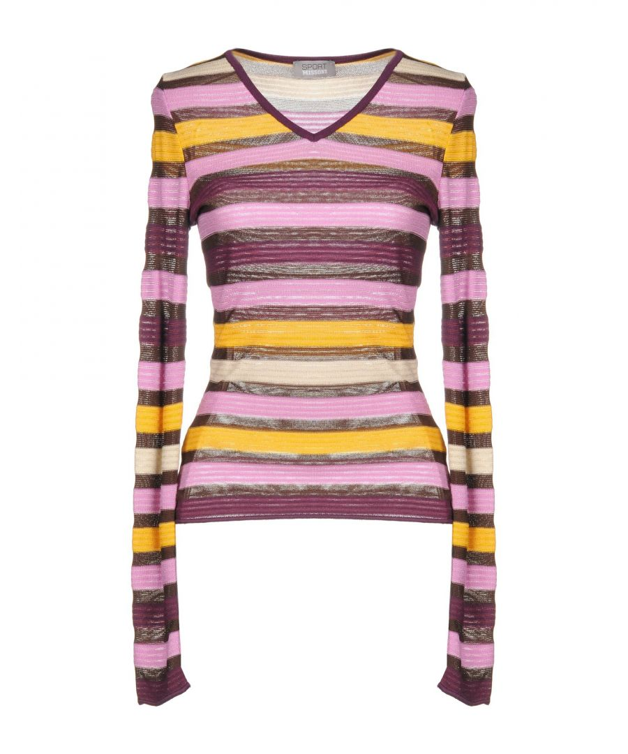 Image for Missoni Sport Pink Stripe Wool Knit Jumper