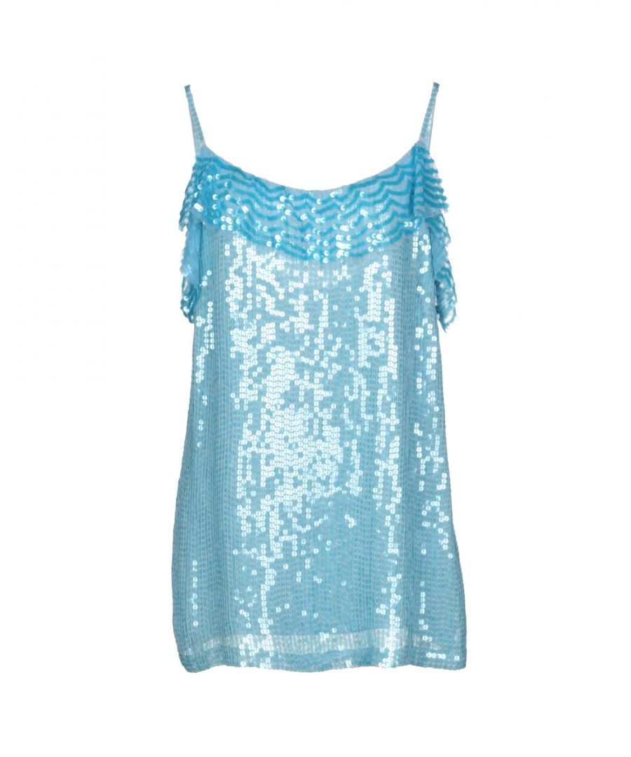 Image for P.A.R.O.S.H. Sky Blue Sequin Camisole