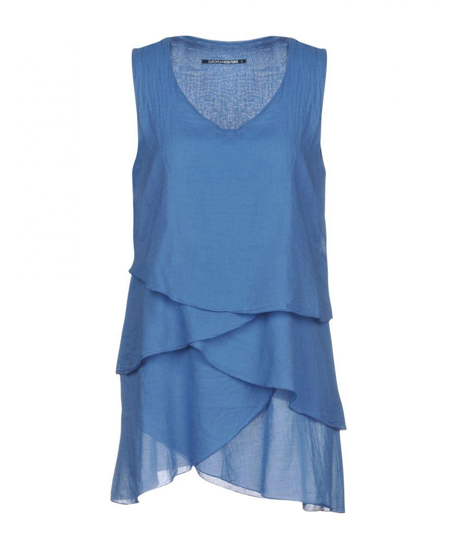 Image for European Culture Pastel Blue Cotton Blouse