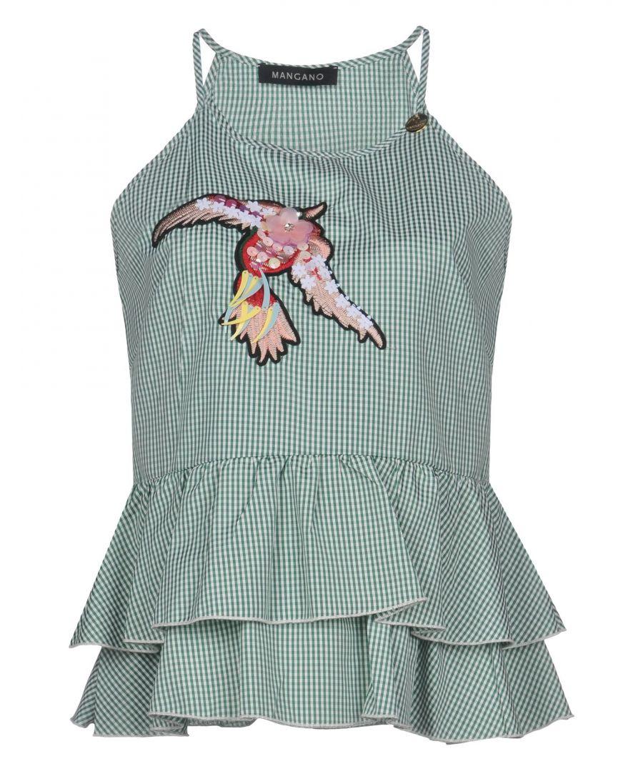 Image for Mangano Green Check Embellished Camisole