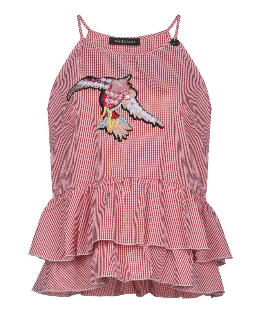 Image for Mangano Red Check Embellished Camisole