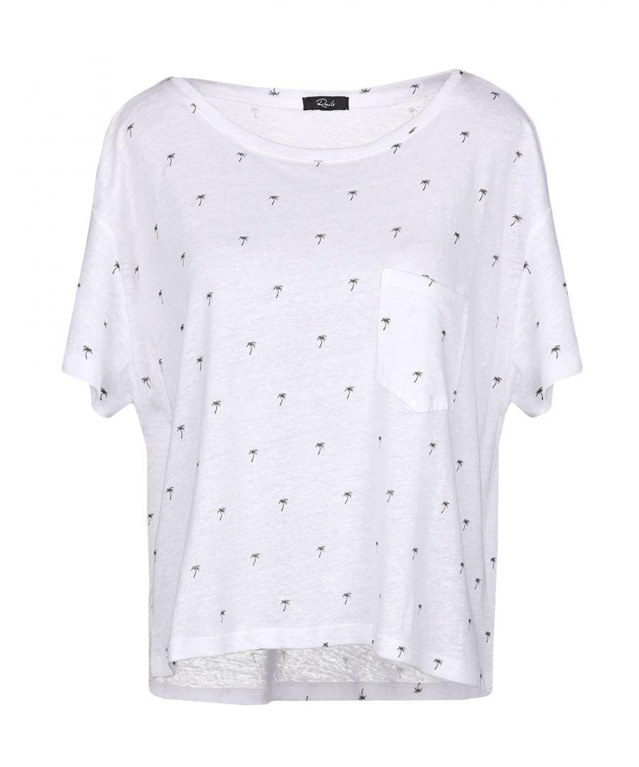 Image for Rails White Linen T-Shirt