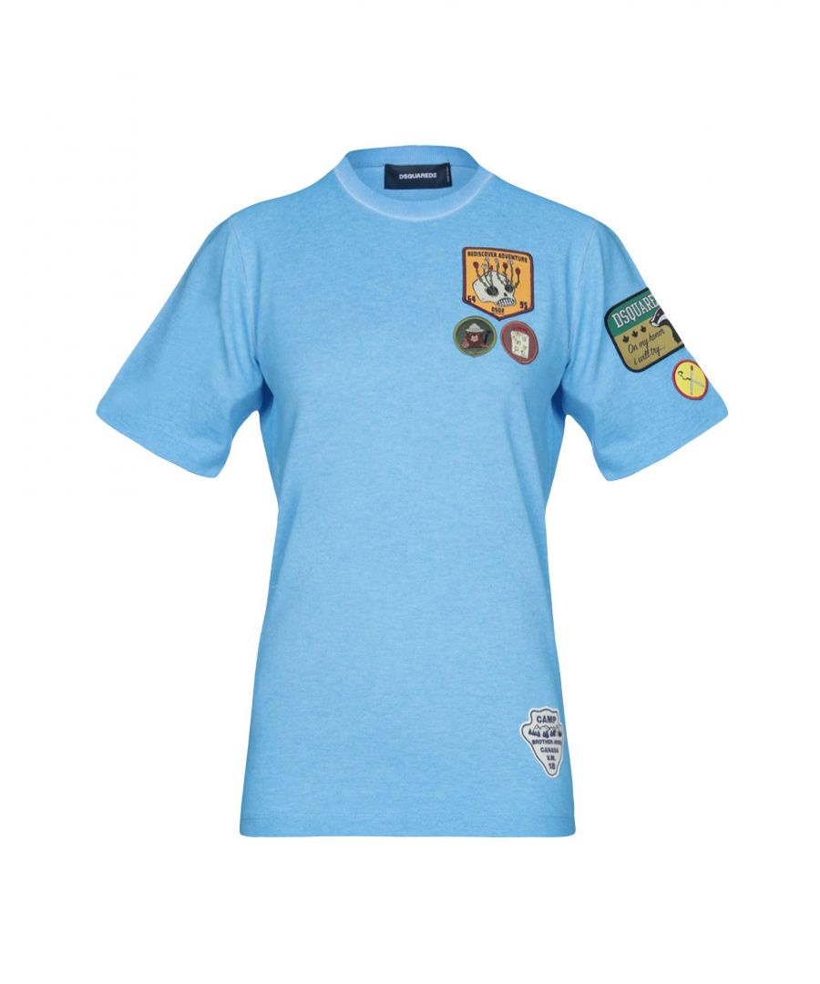 Image for Dsquared2 Azure Cotton T-Shirt