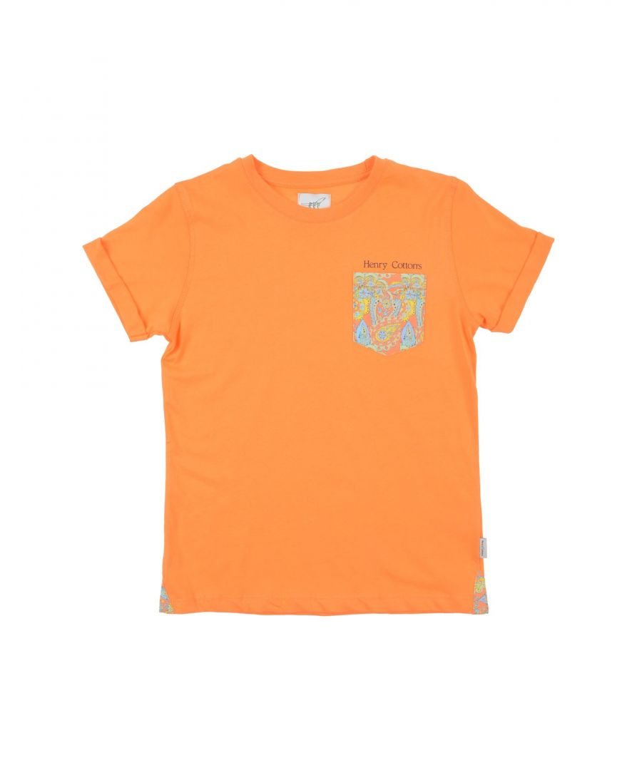 Image for TOPWEAR Henry Cotton'S Orange Boy Cotton