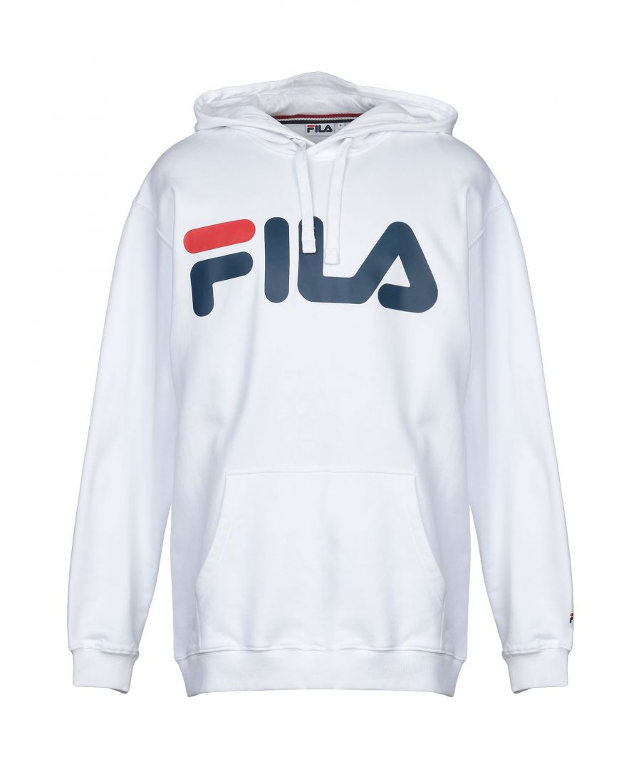 Image for Fila White Cotton Hoodie