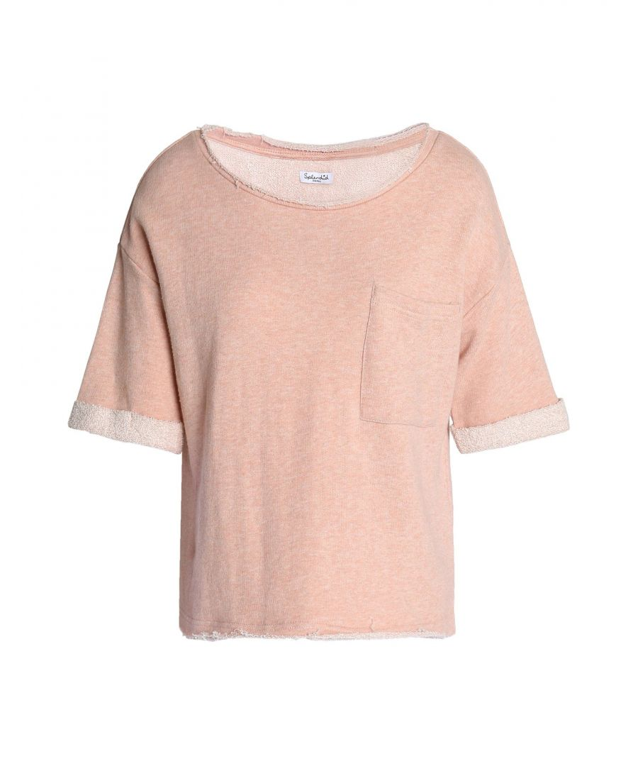 Image for Splendid Pale Pink Cotton Short Sleeve Sweatshirt
