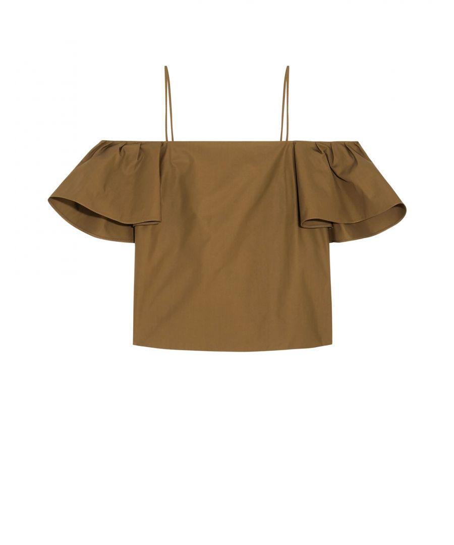 Image for SHIRTS Woman Fendi Khaki Cotton